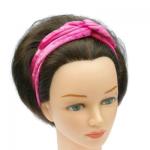 handgemaakte haarband bandana bandeau van bubblegum roze velours