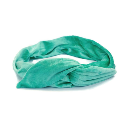 handgemaakte haarband bandana bandeau van zeemeermin groene velours