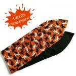 handgemaakte haarband bandana met aludraad voor een halloween party