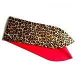 brede haarband met wire geinspireerd op 50er jaern met luipaardprint en effen rood