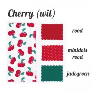 kleurenstaal voor haarband Cherry wit