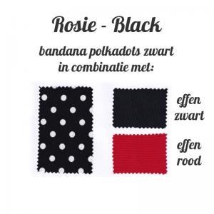 kleurenstaal voor haarband polkadots zwart