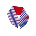 handgemaakte wired haarband bandana in katoen met Friese vlaf print