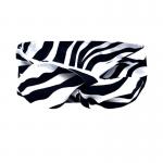 handgemaakte 'wired' haarband van katioen in zebraprint